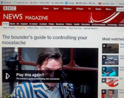 BBC (NATIONAL): THE BOUNDERS GUIDE TO CONTROLLING YOUR MOUSTACHE