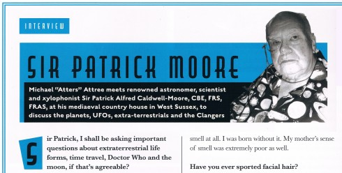 Atters Attree patrick Moore Chap magazine last ever interview