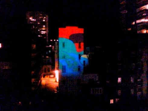 Michael Atters Attree's psychedelic projection