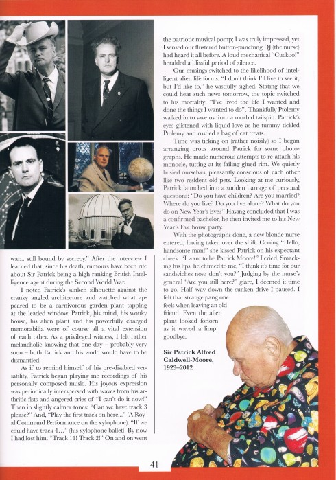 Sir Patric moores last ever interview and obituary by atters attree chap magazine p3